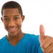 African boy  thumbs up — Stockfoto