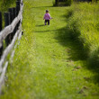 Toddler walking in path — Stock Photo