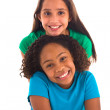 Multi ethnic young girls — Foto Stock