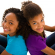 Stock Photo: Two Africteenagers