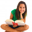 Teenage girl holding book — Stock Photo