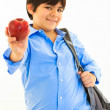 Stock Photo: Hispanic boy with apple