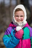 Child dressed warmly — Stock Photo