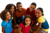 Multi-ethnic group of children — Stock Photo