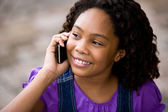 African girl with cellphone — Stock Photo