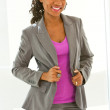 Africfemale wearing business suit — Stockfoto #36340705