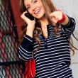 Stock Photo: WomUsing Mobile Phone