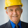 Senior adult wearing hardhat — Stock Photo #36341039