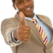 Stock Photo: Africbusinessmgiving thumbs up