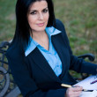 Stock Photo: Female businesswomworking outdoors