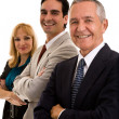 Group of Three Businesspeople Smiling — Stok fotoğraf