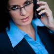 Stock Photo: Female businesswomtalking on cellphone