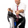 Businessmon cross trainer — Stock Photo #36341689