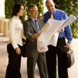 Architectural Team Looking Over Plans — Stock Photo #36341923