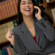 Laughing businesswoman — Stock Photo