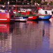 Colorful boats in port of Coruña — Stockfoto #31262533