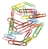 Paper clips on white — Stock Photo