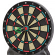 Stock Photo: Darts game, triple bull eye