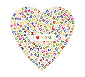 A big heart of letters — Stock Photo