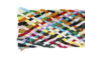 Strip woven cotton multicolored — Stock Photo