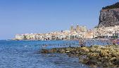 Beach of Cefalu' (Sicily). — Stock Photo