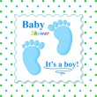 Sweet Baby Shower Card — Stock Vector #31580299
