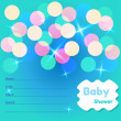 Baby Shower Card Template — Stock Vector #31582783