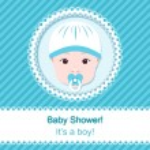 Baby boy shower — Stock Vector #31583213