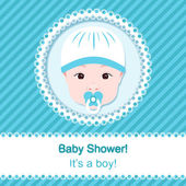 Baby boy shower — Stock Vector