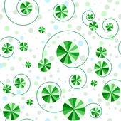 Seamless pattern with green circles — Stock Vector