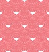 Naadloze patroon met opengewerkte hart — Stockvector