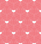 Seamless Pattern with openwork Hearts — Stock Vector