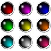 光泽按钮图标设置 — 图库矢量图片