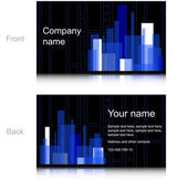 Black and Blue business card — Stock Vector