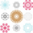Set of spirograph for design — Stock Vector
