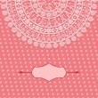 Vintage card design with floral pattern — 图库矢量图片