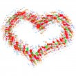 Abstract colorful heart  — Image vectorielle