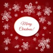 Christmas card with snowflakes — Vector de stock #34219293