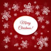 Kartki świąteczne z płatki śniegu — Wektor stockowy