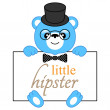 Cartoon bear hipster — Stock Vector