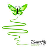 Background with butterfly — Stockvektor