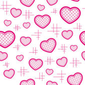 Seamless pattern with hearts — ストックベクタ