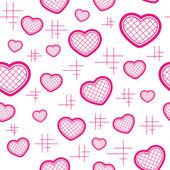 χωρίς ραφή πρότυπο με καρδιές — Διανυσματικό Αρχείο