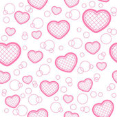 Light seamless pattern with hearts — Stok Vektör
