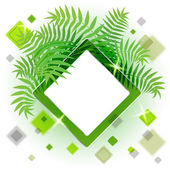 Frame with leaves for your message — Cтоковый вектор