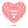Abstract Openwork Heart — Stock Vector