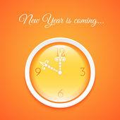 Clock show a midnight — Vecteur