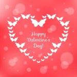 Heart of butterflies. Valentine's Card — Stock Vector #38291175