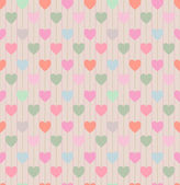 Seamless pattern with repeating hearts — Stock Vector