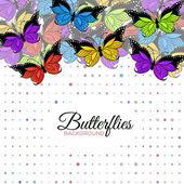 Arka plan ile kelebekler — Stok Vektör